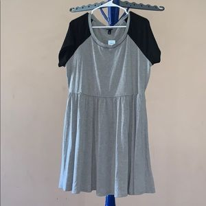 Torrid Grey and Black Jersey Dress
